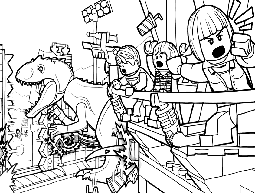 Jurassic World Coloring Pages Coloring Rocks