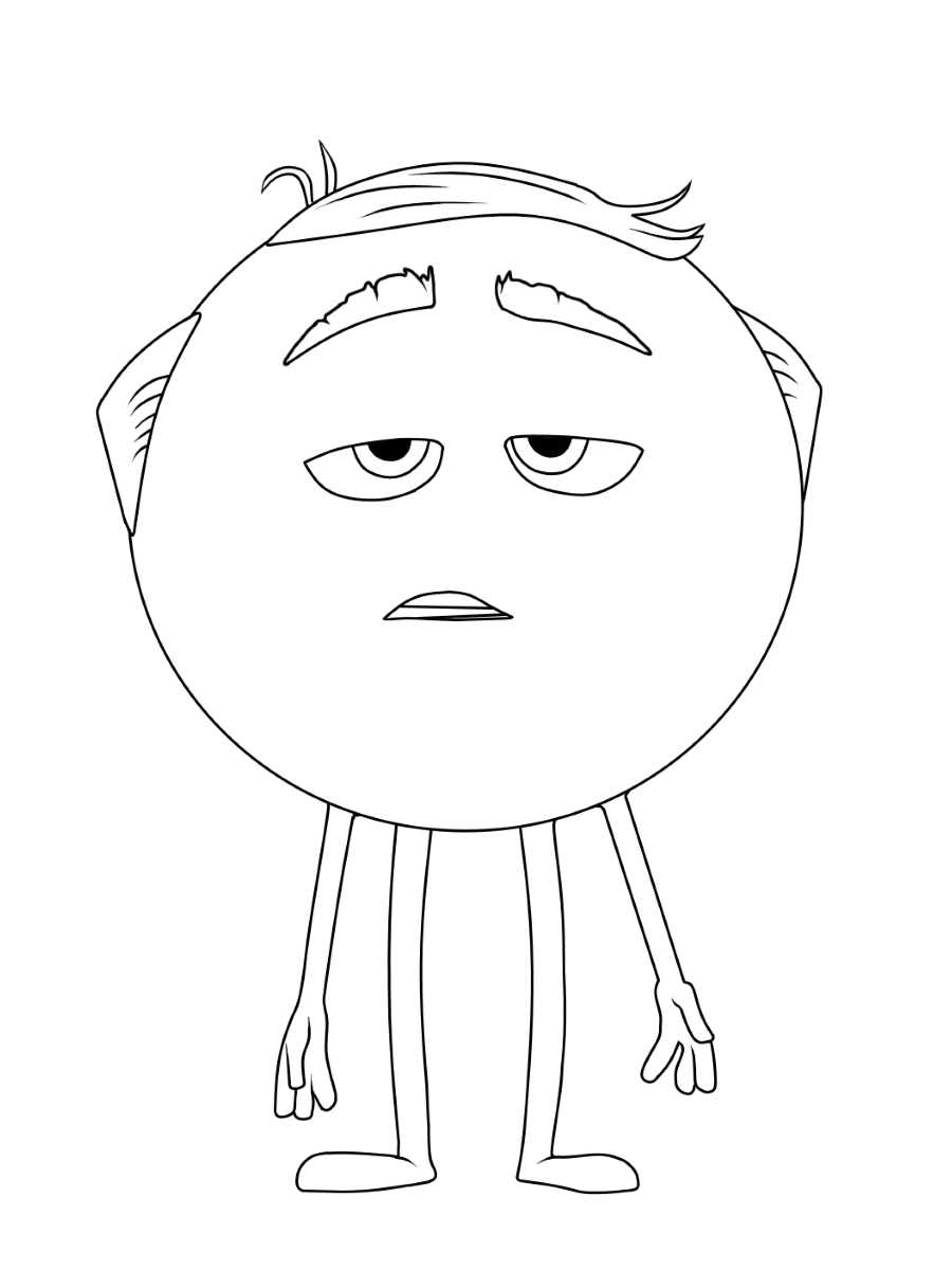 Meh Emoji Movie Coloring Page Coloring Rocks