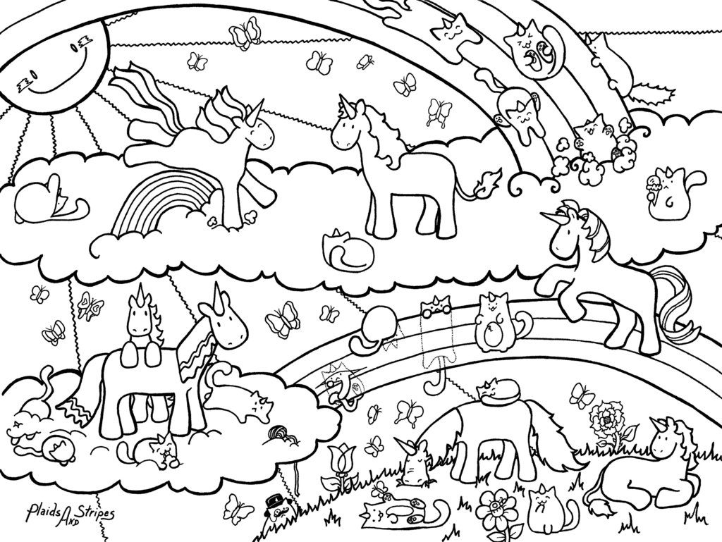 Unicorn Coloring Pages Coloring Cks