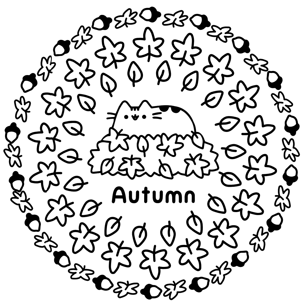 Pusheen Coloring Pages Coloring Cks