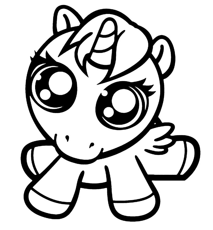 Baby Unicorn Printable Cute Unicorn Coloring Pages Novocom Top