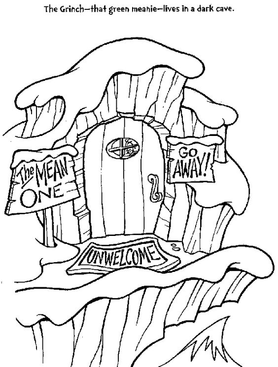 Grinch Coloring Pages Coloring Rocks