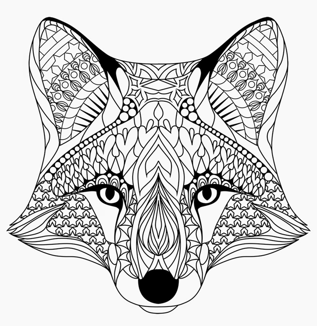 Fox Coloring Pages Coloring Rocks
