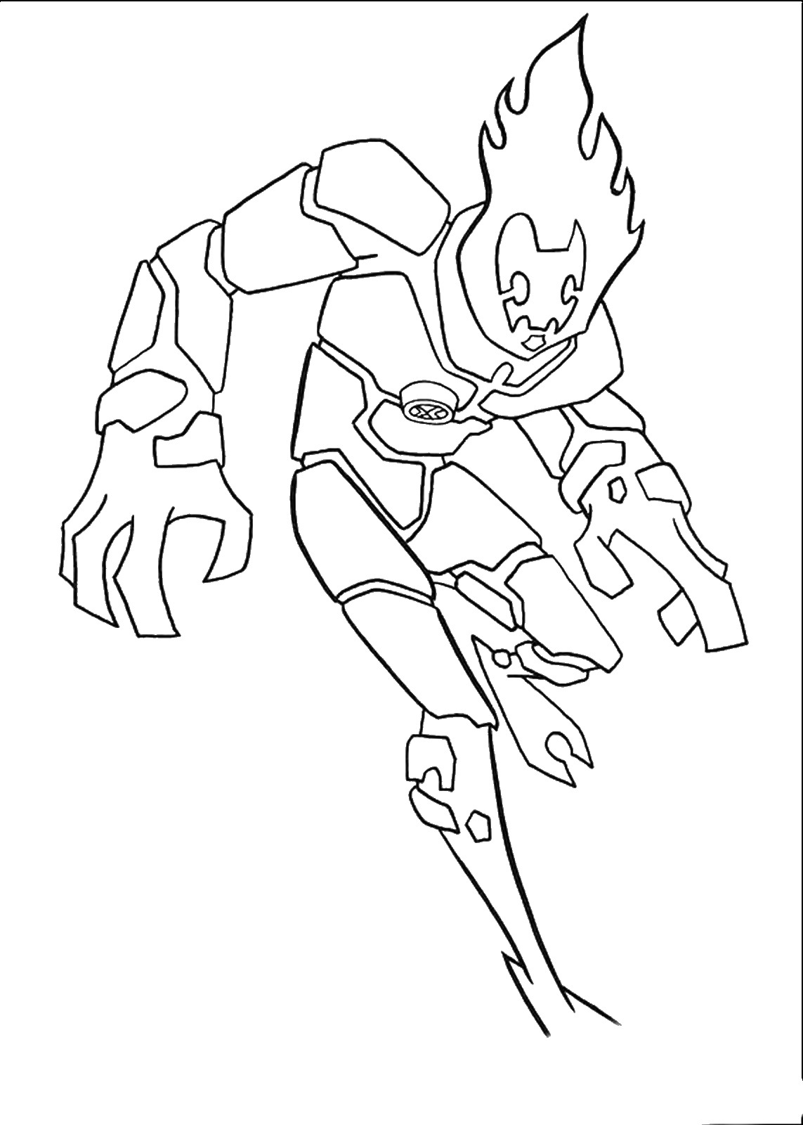 Free Coloring Pages Download Ben 10 Of Ben10 On Xsibe