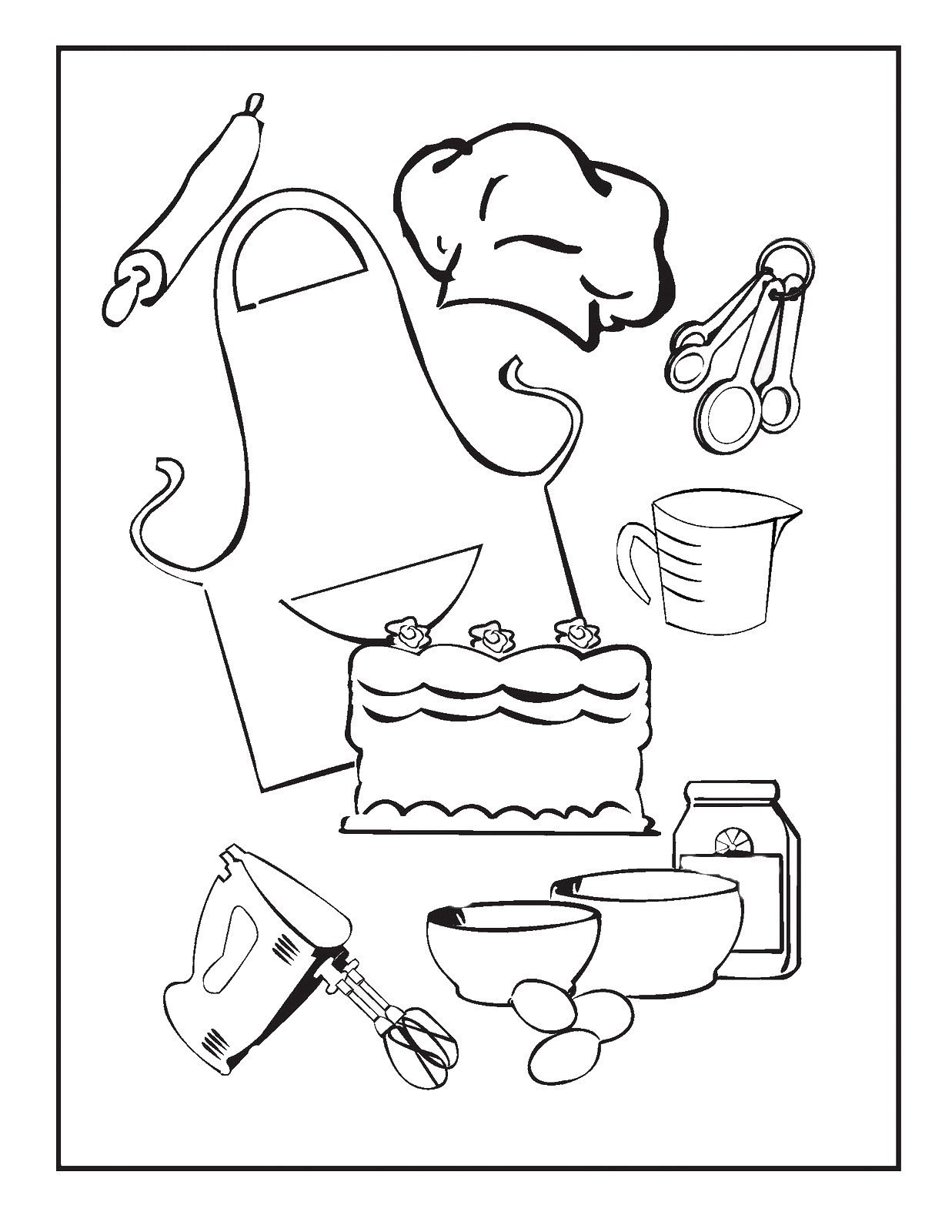 Cooking Amp Baking Coloring Pages