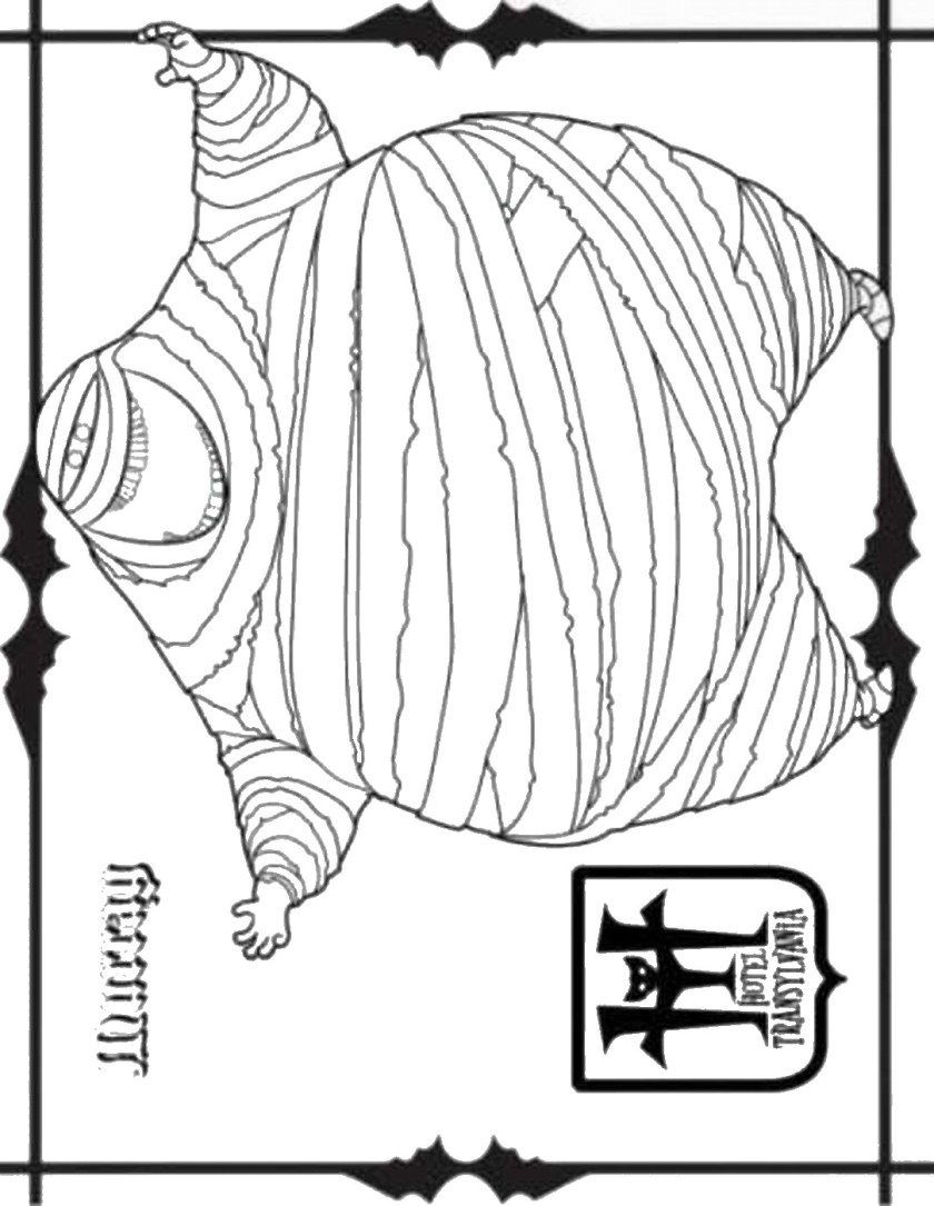 hotel transylvania coloring pages