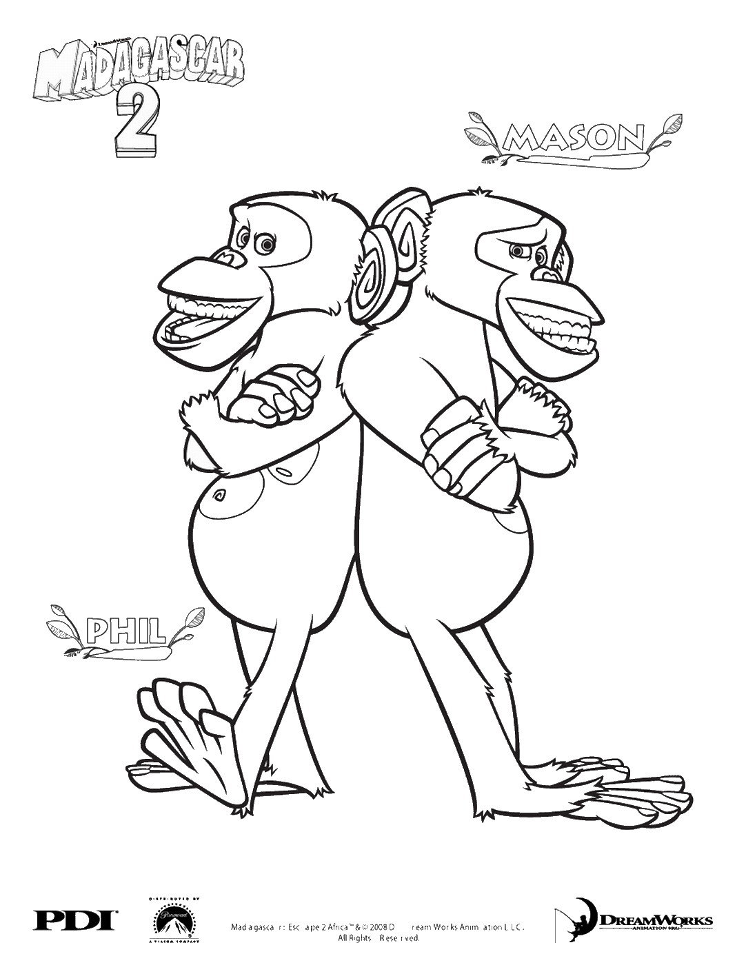 Madagascar Coloring Pages
