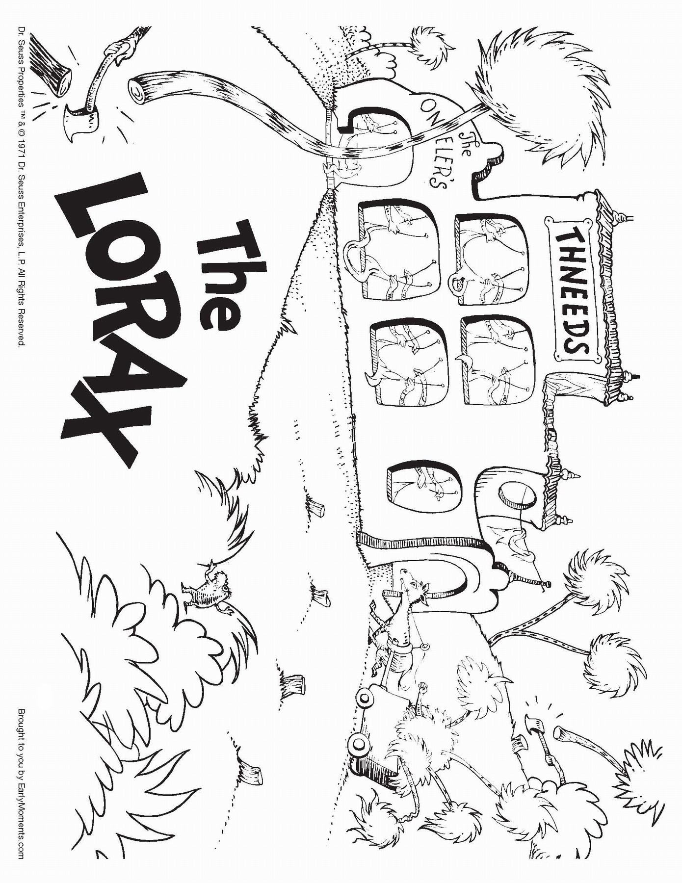 The Lorax Coloring Pages