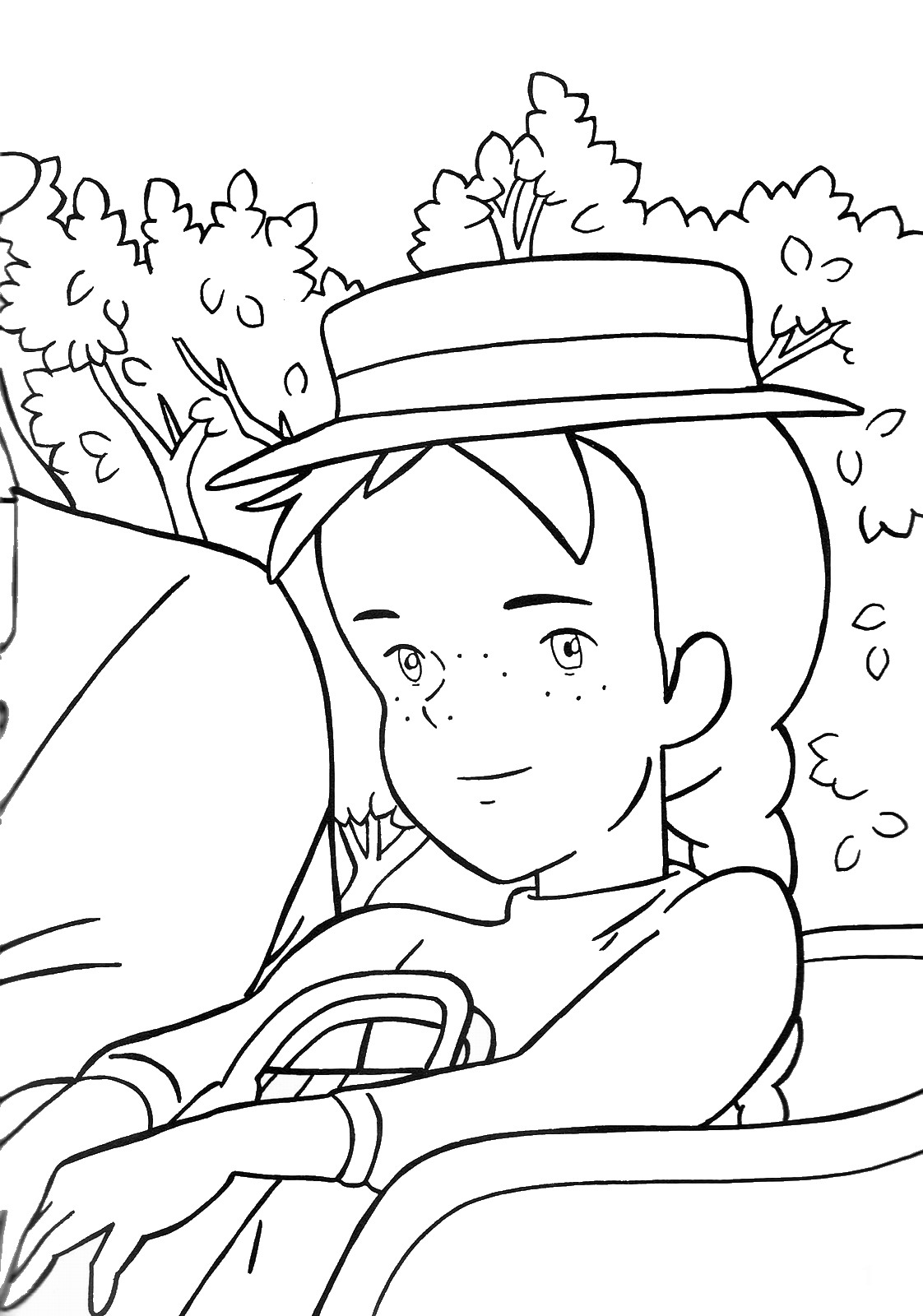 Ann Of Green Gables Coloring Pages