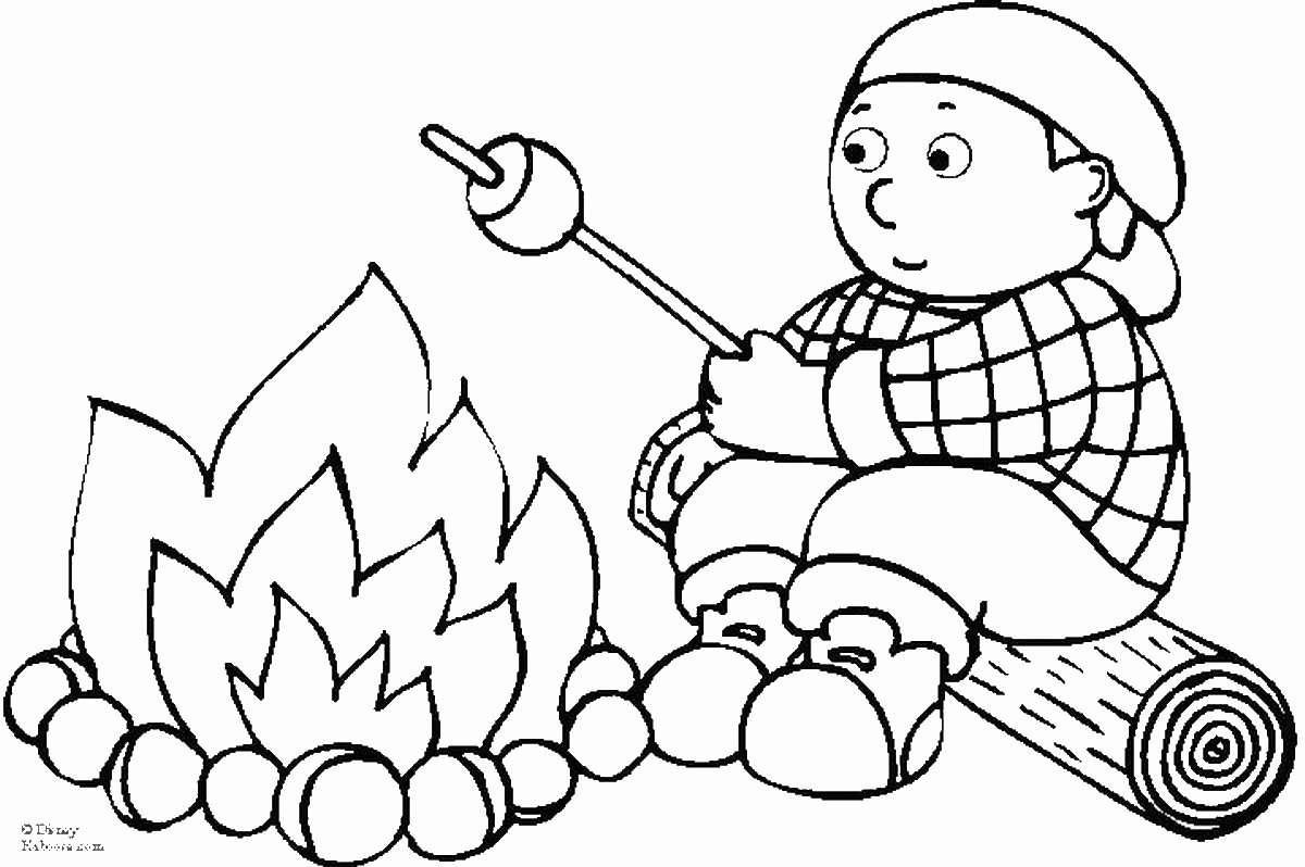 Camping Coloring Pages