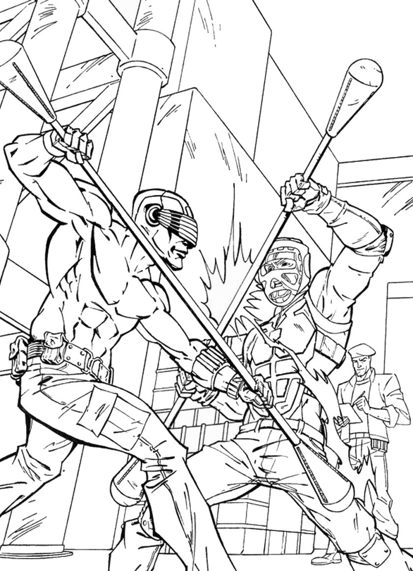 the rise of cobra coloring pages