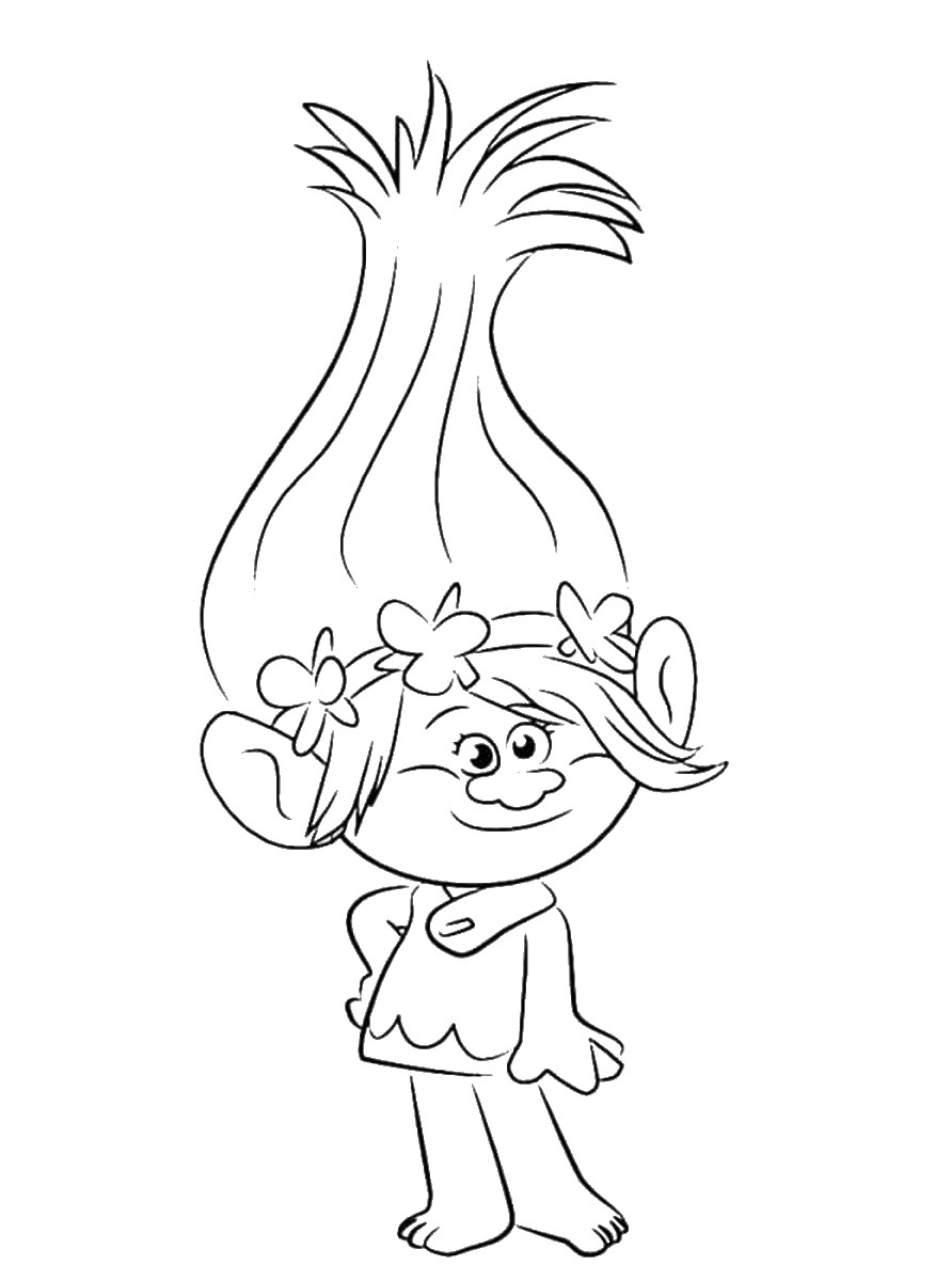 Trolls Holiday Movie Coloring Pages