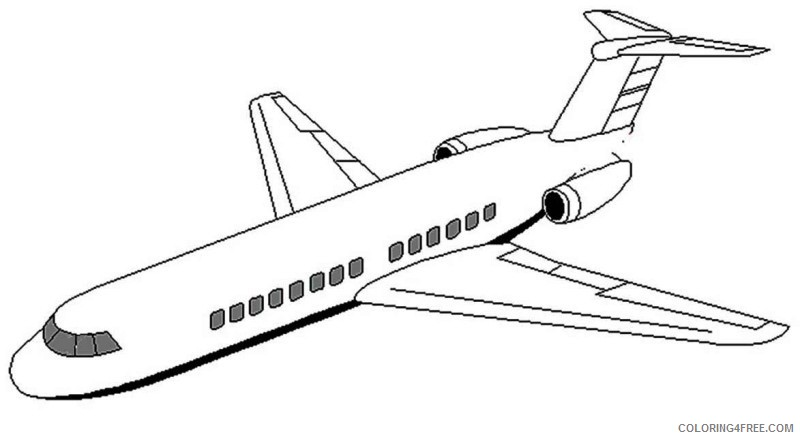 Airplane Coloring Pages Jet Airplane Coloring4free Coloring4free Com