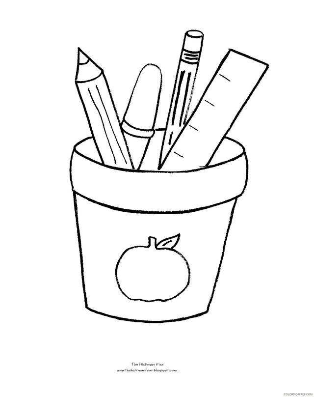 back to school coloring pages school stuff Coloring25free