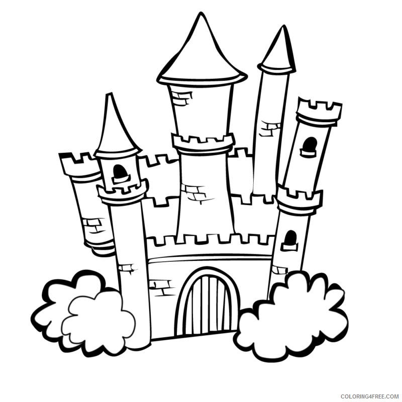 Castle Coloring Pages Free For Kids Coloring4free Coloring4free Com
