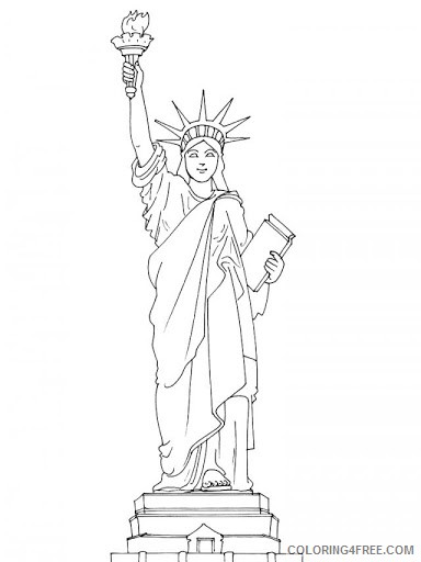 Free Statue Of Liberty Coloring Pages For Kids 2 Coloring4free Coloring4free Com