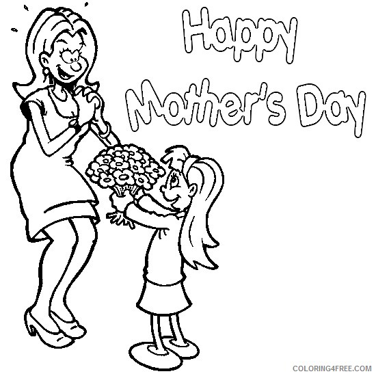 Happy Mothers Day Coloring Pages For Girls Coloring4free Coloring4free Com