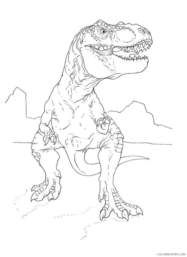 jurassic park coloring pages tyrannosaurus rex Coloring18free
