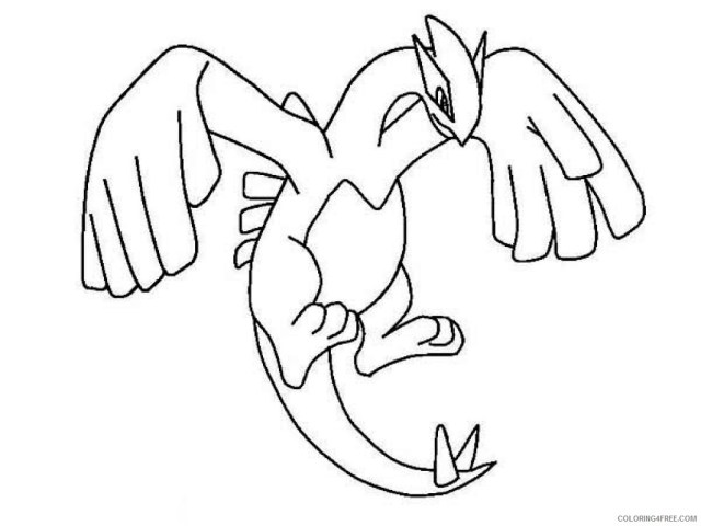 legendary pokemon coloring pages lugia Coloring23free
