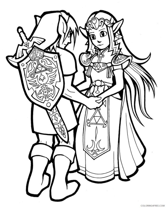 link and zelda coloring pages Coloring224free - Coloring224Free.com