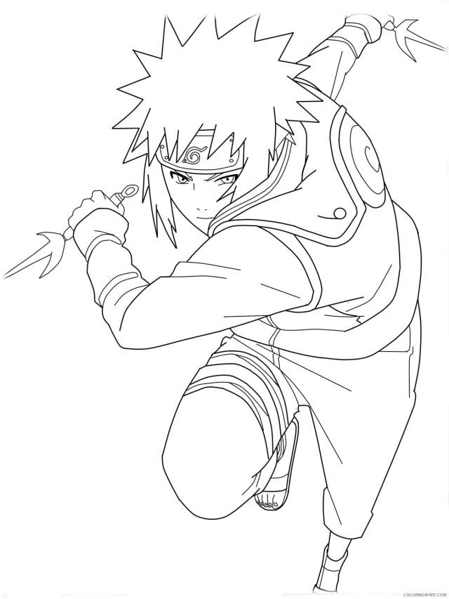 naruto coloring pages minato yondaime hokage Coloring25free