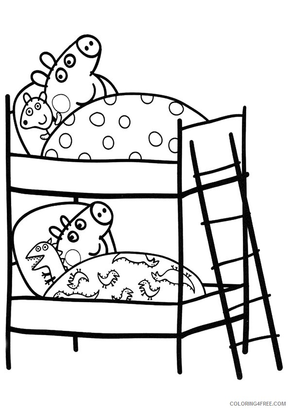 Cartoon Pig Coloring Pages Print