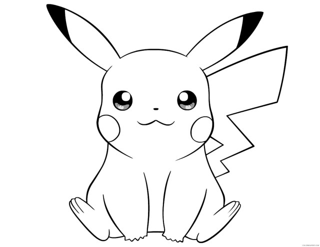 pikachu coloring pages cute Coloring10free - Coloring10Free.com