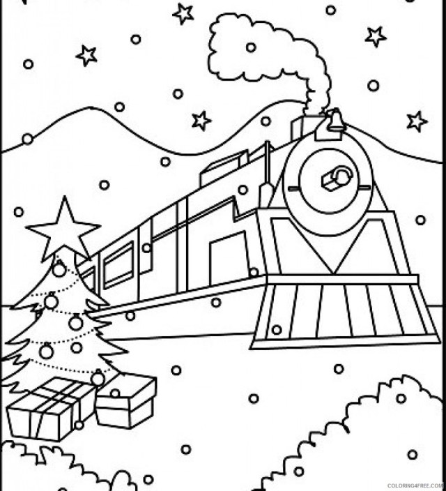 polar express coloring pages printable Coloring27free