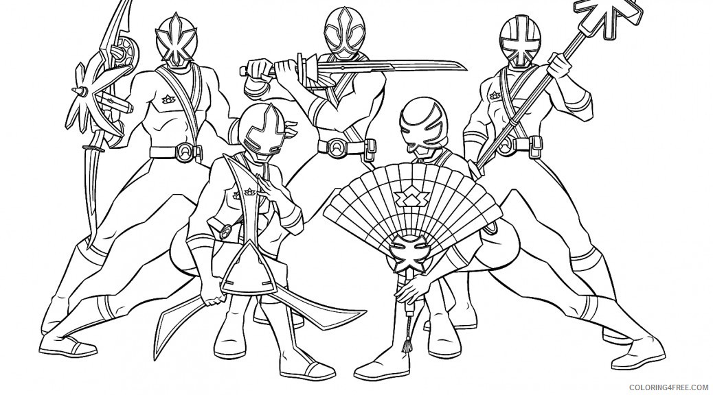 Power Ranger Coloring Pages Samurai Coloring4free Coloring4free Com