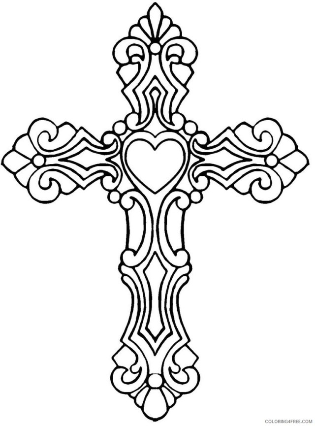 printable cross coloring pages for adults Coloring9free