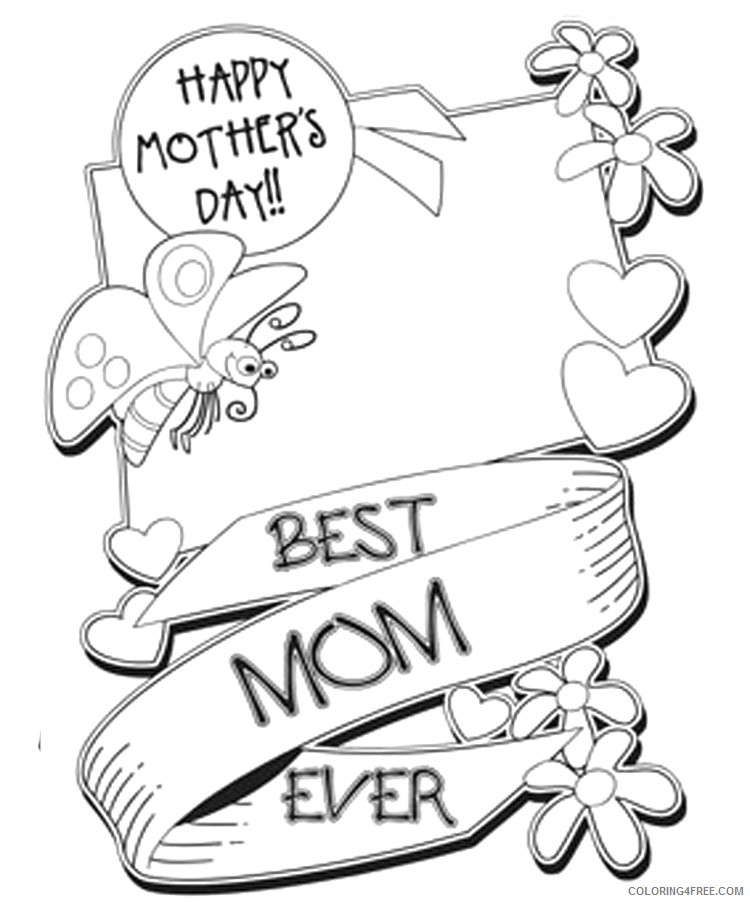 Printable Mothers Day Coloring Pages Coloring4free Coloring4free Com
