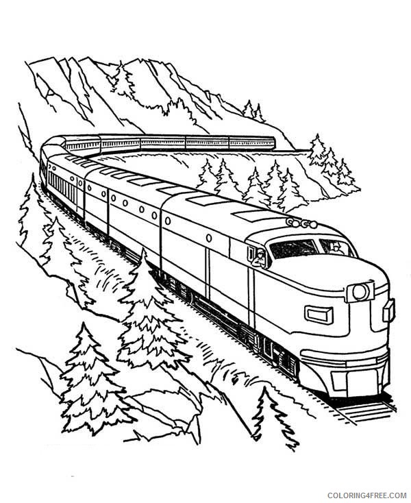 Printable Train Coloring Pages For Kids Coloring4free Coloring4free Com