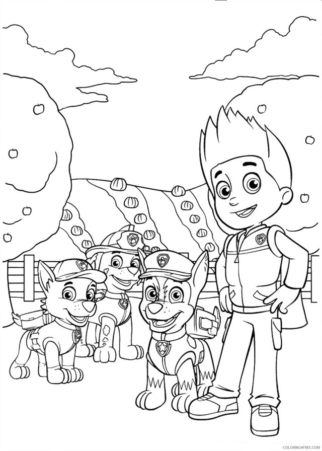 ryder and paw patrol coloring pages Coloring28free - Coloring28Free.com