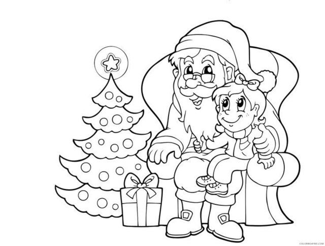 santa claus coloring pages storytelling to kids Coloring26free