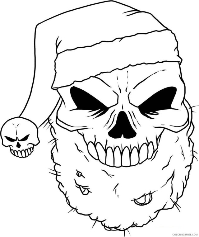 scary coloring pages santa skull Coloring23free - Coloring23Free.com