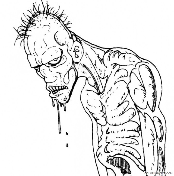 Scary Zombie Coloring Pages 2 Coloring4free Coloring4free Com