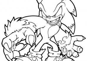 Sonic Coloring Pages Coloring4free Com