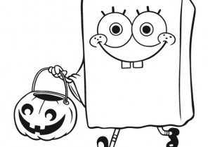 Spongebob Squarepants Coloring Pages Coloring4free Com 960x544 Halloween