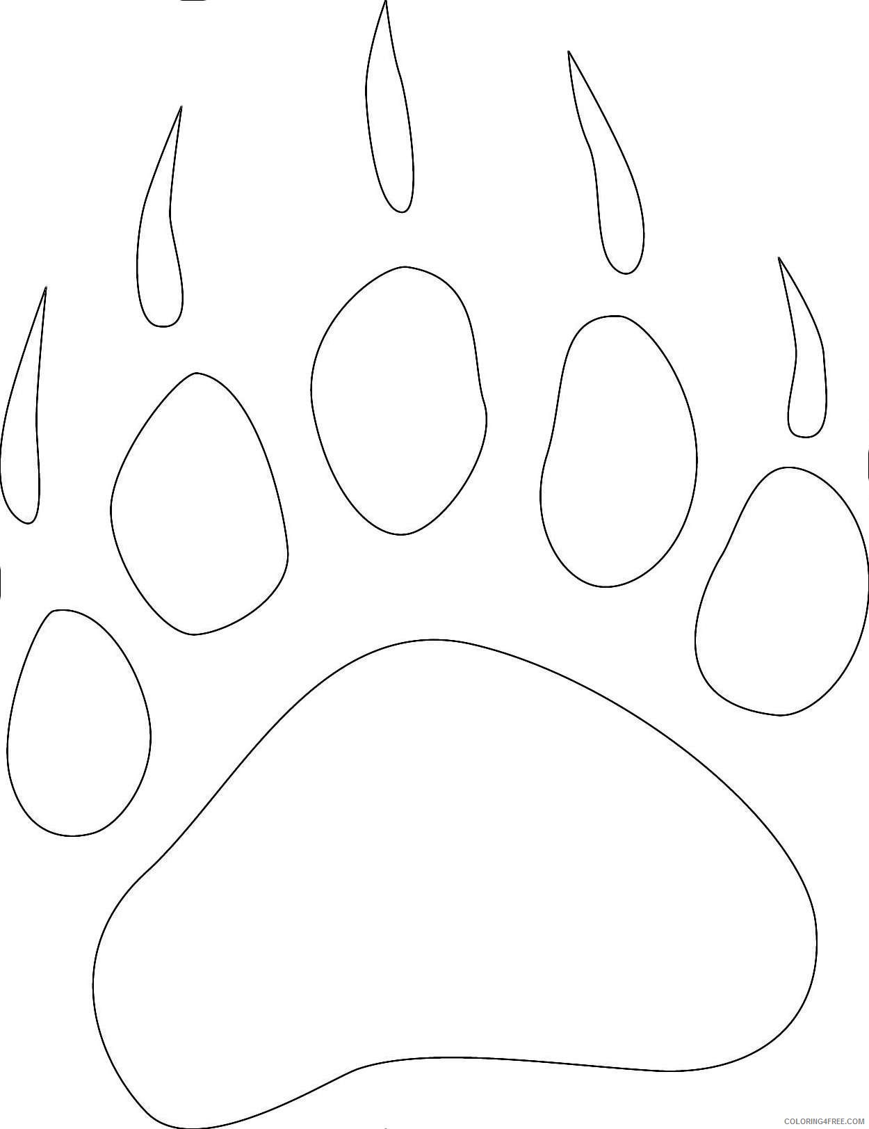Bear Paw Coloring Pages Pictures To Pin
