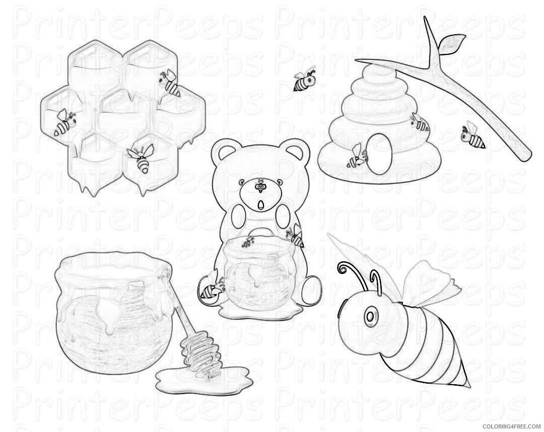 bee hive honey bee scrapbook mo2qol coloring