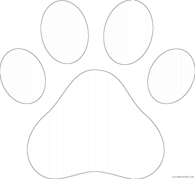 Bear paw print coloring pages