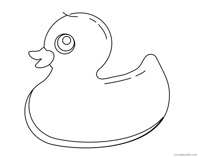 Black and White Rubber Duck Coloring Pages rubber duck black white