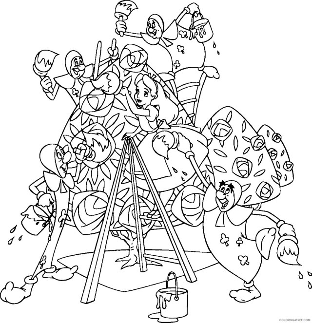 Alice in Wonderland Coloring Pages Cartoons Alice in Wonderland