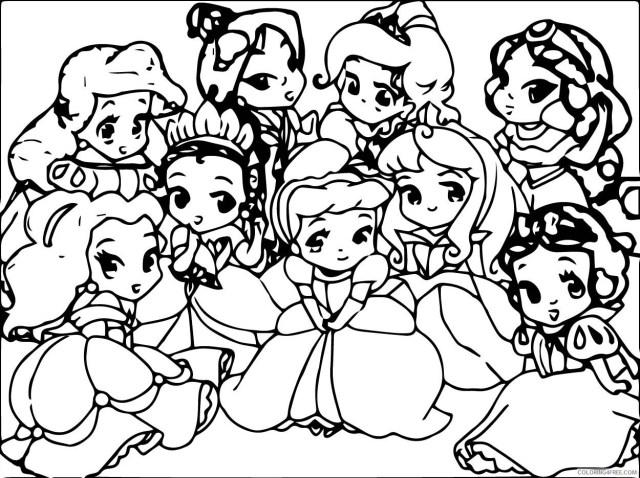 Baby Disney Coloring Pages Cartoons Cute Baby Disney Princess