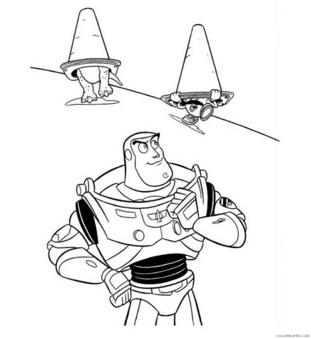 Buzz Lightyear Coloring Pages TV Film Free Buzz Lightyear