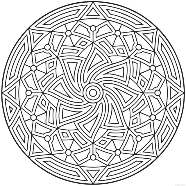 Geometric Design Coloring Pages Adult Printable Geometric 28