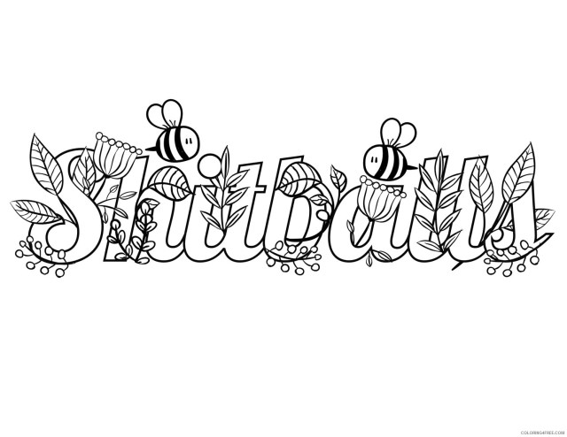 Swear Word Coloring Pages Adult Funny Swear Adult Printable 24