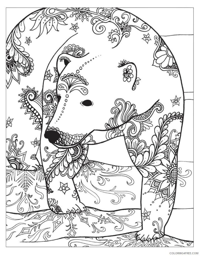 Winter for Adults Coloring Pages Polar Bear Winter for Adults