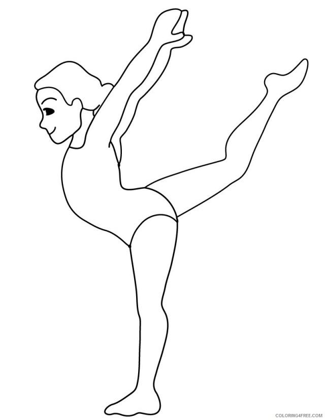 Gymnastics Coloring Pages for Girls Gymnastics Printable 27 27
