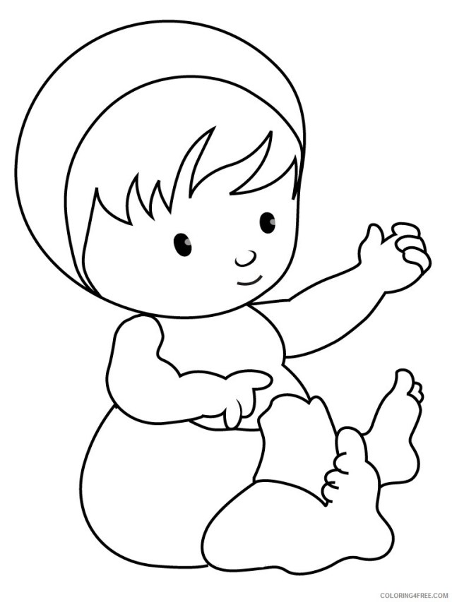 Baby Coloring Pages Cute Baby 13 Printable 130131 13 Coloring13free